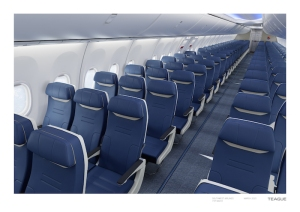 Southwest is the launch Customer for the new seats represented here on the new Boeing 737 MAX aircraft.